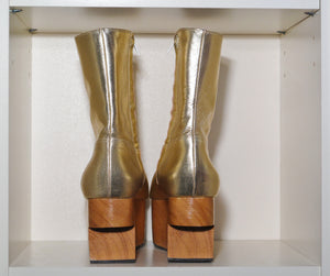 Vivienne Westwood Gold Label Rocking Horse Shoes Boots Gold Metallic
