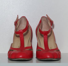 Load image into Gallery viewer, Vivienne Westwood Gold Label Low Heel T-Strap Red Leather