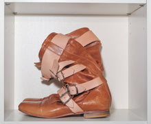 Load image into Gallery viewer, Vivienne Westwood Gold Label Pirate Boots Yellow Leather