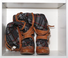 Load image into Gallery viewer, Vivienne Westwood for Nine West 2006 Knee High Tartan Boots