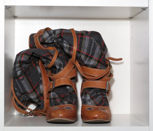 Vivienne Westwood for Nine West 2006 Knee High Tartan Boots