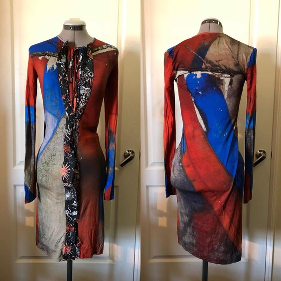 Vivienne Westwood Anglomania Sample Dress in Union Jack Print