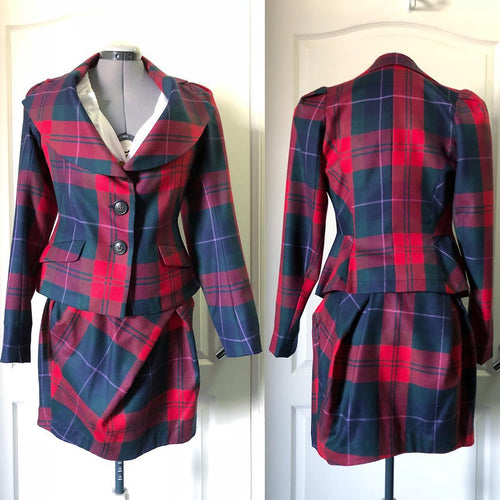 Vivienne Westwood Anglomania AW 2011 Red Tartan Skirt Suit