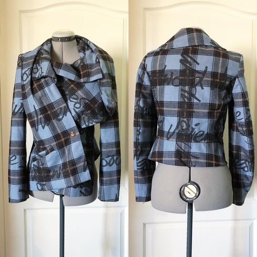 Vivienne Westwood Red Label 2006 Graffiti Tartan Jacket in Blue