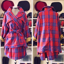 Load image into Gallery viewer, Vivienne Westwood Anglomania AW 2011 Builders Coat in Red Lyon Tartan