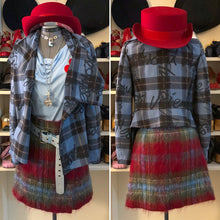 Load image into Gallery viewer, Vivienne Westwood Red Label 2006 Graffiti Tartan Jacket in Blue