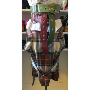 Vivienne Westwood Anglomania Bondage Skirt in Exhibition Tartan