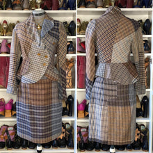 Load image into Gallery viewer, Vivienne Westwood Gold Label Vintage 1996 Breanish Foggy Tweed Grey Brown Pencil Skirt