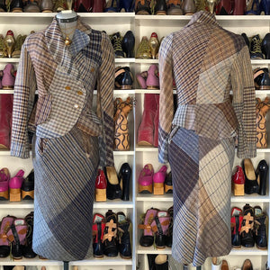 Vivienne Westwood Vintage 1996 Storm in a Teacup Breanish Tweed Skirt Suit