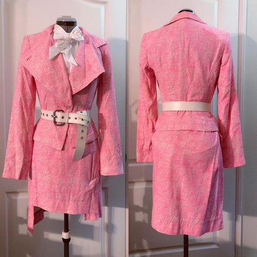 Vivienne Westwood Anglomania SS 2016 Pink Speckled Skirt Suit