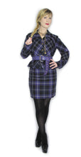 Load image into Gallery viewer, Vivienne Westwood Vintage 1994 MacPoiret Purple Tartan Pencil Short Skirt