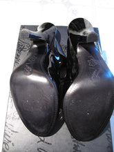 Load image into Gallery viewer, Vivienne Westwood for Nine West 2006 Coquette Black Patent Sandal Heels