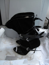 Load image into Gallery viewer, Vivienne Westwood Accessories Label Roman Boot Nero Black Suede and Patent Leather
