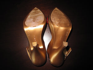 Vivienne Westwood Melissa Lady Dragon Heels Gold Red Heart