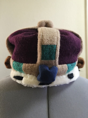Vivienne Westwood 2006 Re-issue Wool Crown Beret Hat in Purple