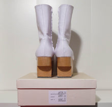 Load image into Gallery viewer, Vivienne Westwood Gold Label Rocking Horse Shoes Boots White Kid Leather