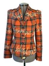 Load image into Gallery viewer, Vivienne Westwood Red Label 2006 Signature Tartan Orange Jacket