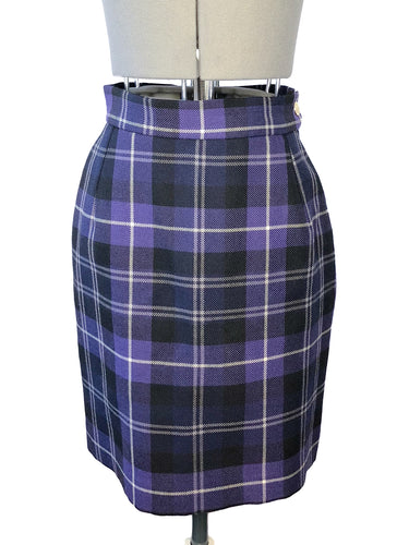 Vivienne Westwood Vintage 1994 MacPoiret Purple Tartan Pencil Short Skirt マックポワレ