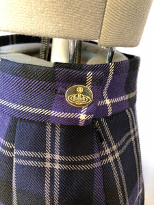 Vivienne Westwood Vintage 1994 MacPoiret Purple Tartan Pencil Short Skirt