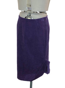 Vivienne Westwood Anglomania Purple Corduroy Pencil Skirt