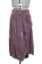 Load image into Gallery viewer, Vivienne Westwood Anglomania Crushed Velvet Eggplant Purple Long Apron Skirt
