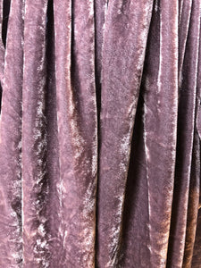 Vivienne Westwood Anglomania Crushed Velvet Eggplant Purple Long Apron Skirt