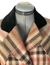 Load image into Gallery viewer, Vivienne Westwood Vintage 1995 Red Label Tan Metro Tartan Velvet Trim Clutch Skirt Suit