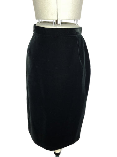Vivienne Westwood Red Label Black Velvet Pencil Skirt