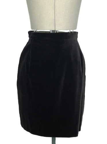 Vivienne Westwood Vintage Gold Label Black Velvet Short Pencil Skirt