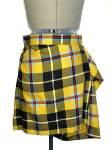 Vivienne Westwood Anglomania 2010 Yellow Tartan Skirt Suit Set