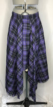 Load image into Gallery viewer, Vivienne Westwood Vintage 1994 McPoiret Purple Tartan Long Asymmetrical Skirt