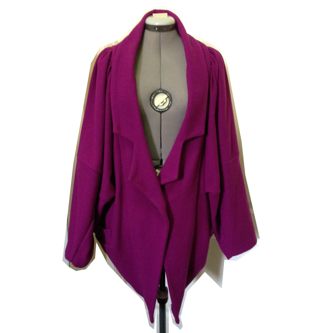 Vivienne Westwood Anglomania 2010 Butterfly Coat Purple Wool