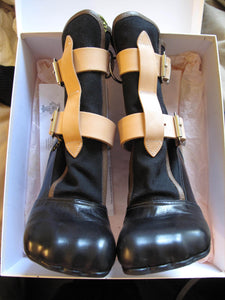 Vivienne Westwood Gold Label Bondage Boots Black Canvas