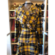 Load image into Gallery viewer, Vivienne Westwood Anglomania AW 2010 Yellow Tartan Skirt Suit