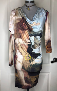 Vivienne Westwood Anglomania New Drape Dress in Rubens Print
