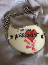Load image into Gallery viewer, Vivienne Westwood Accessories Label I Am Not A Terrorist Choker Necklace