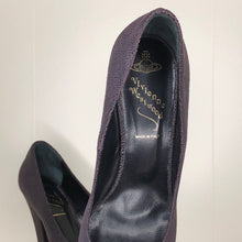 Load image into Gallery viewer, Vivienne Westwood Anglomania Eggplant Purple Mock Stingray Pointed Pumps