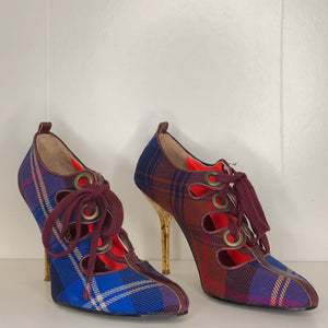 Vivienne Westwood Accessories Label McCambridge Tartan Gillie Heels