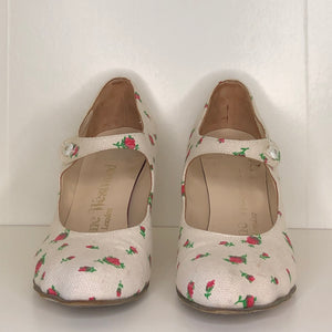 Vivienne Westwood Gold Label Mary Jane Cream Canvas Floral Print