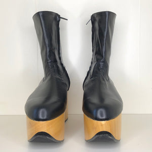Vivienne Westwood Gold Label Rocking Horse Boots in Black Kid Leather