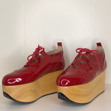 Load image into Gallery viewer, Vivienne Westwood Gold Label Rocking Horse Shoes Gillies Red Patent Leather