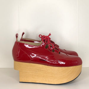 Vivienne Westwood Gold Label Rocking Horse Shoes Gillies Red Patent Leather