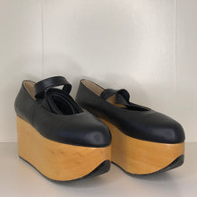 Load image into Gallery viewer, Vivienne Westwood Gold Label Rocking Horse Ballerina Shoes in Black Kid Leather