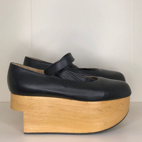 Vivienne Westwood Gold Label Rocking Horse Ballerina Shoes in Black Kid Leather