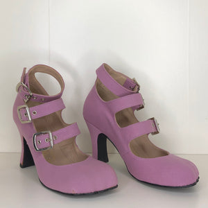 Vivienne Westwood Gold Label Animal Toe 3-Straps in Lilac Canvas