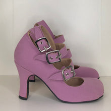 Load image into Gallery viewer, Vivienne Westwood Gold Label Animal Toe 3-Straps in Lilac Canvas
