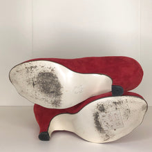 Load image into Gallery viewer, Vivienne Westwood Gold Label Mary Jane Red Suede Leather Low Heels