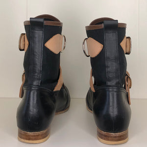 Vivienne Westwood Worlds End Gold Label Black Canvas Seditionary Boots
