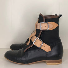 Load image into Gallery viewer, Vivienne Westwood Worlds End Gold Label Black Canvas Seditionary Boots