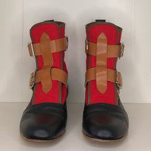 Load image into Gallery viewer, Vivienne Westwood Worlds End Gold Label Red Canvas Seditionary Boots